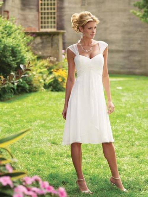 Informal Second Wedding Dresses for older brides   Casual Short Wedding  Dresses with Sleeves Casual …   putting my wedding together, thoughts and  ideas