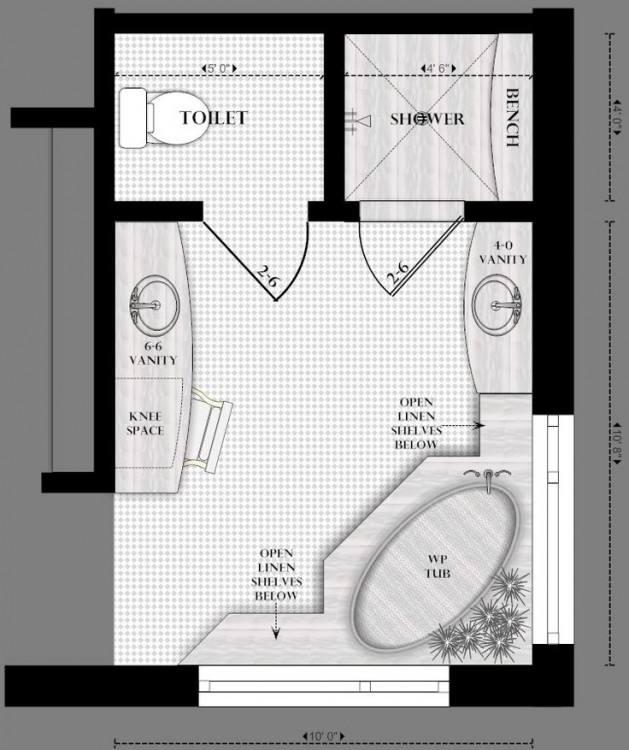 Free Bathroom Plan Design