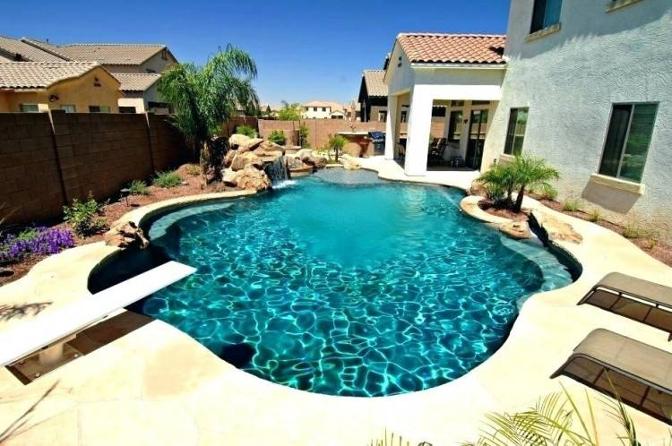 backyard amenities can create natural looking pool shapes or geometric  designs with lap lane