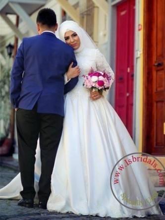 2018 Vintage Wedding Dresses Lace Sweep Buttons See Through Back Vestidos De Novia Applique Illusion Long Sleeves Wedding Gowns Dresses Designer Exotic
