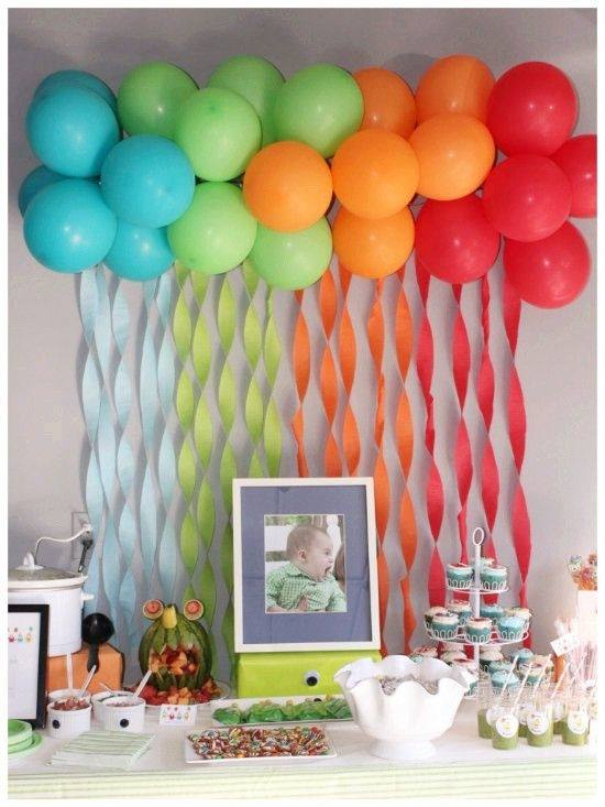 colorful balloon ceiling decoration