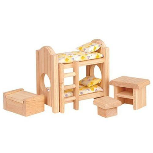 With a bed, bedspread,  pillow and more, this tiny furniture set is just what the parents' room of  any