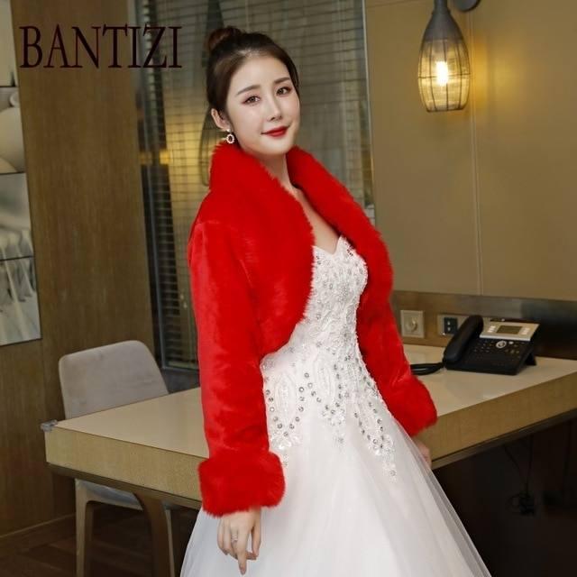 2017 2015 Winter Wedding Dress Wraps And Jackets Bridal Dress Gown –  Emasscraft