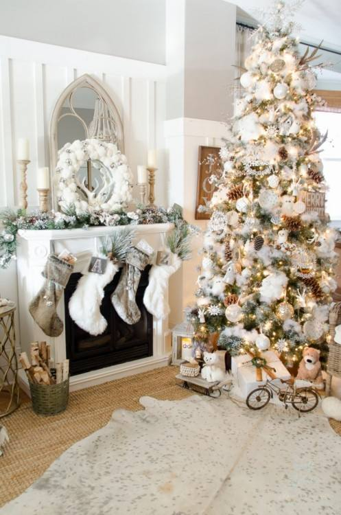 Published June 23, 2018 at 1200 × 1801 in 30 Vintage And Rustic Christmas Tree Decor Ideas