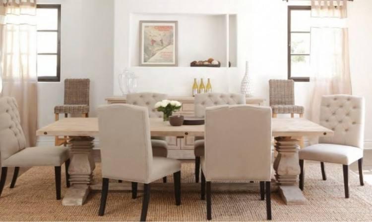 fabric dining room