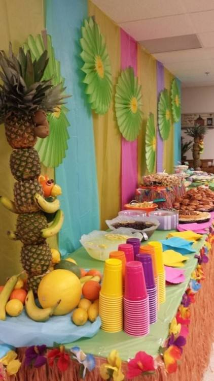 backyard luau party ideas best of tropical decorating decoration cheap centerpiece