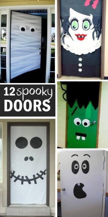 scary halloween door decorations scary