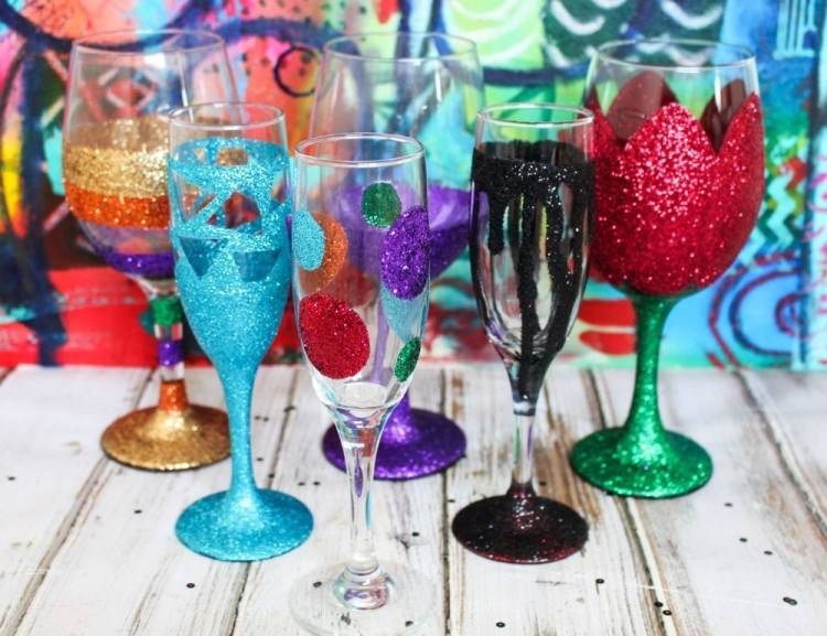painted wine glass ideas for decorative glasses zoom hand large decoration  w massive d
