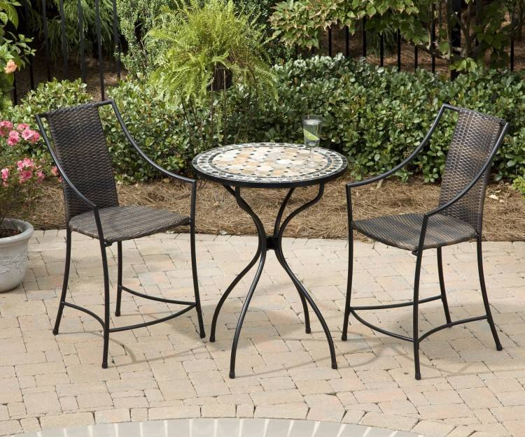 Patio, Small Patio Tables Patio Dining Sets A Set Of Tall Chair With  Round Table