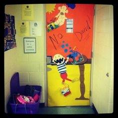 Door decorating contest for March is reading month