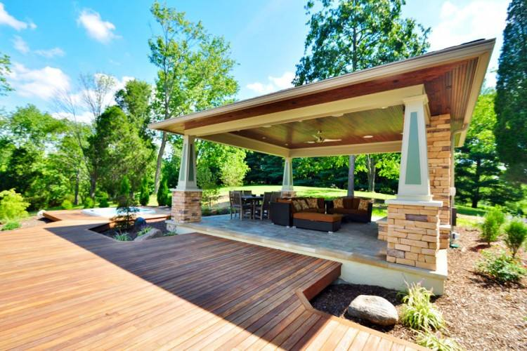 The newly completed outdoor living