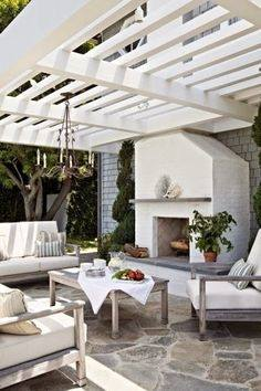 Outdoor Living : Trendy Outdoor Rooms Design With Small Gray Modern Sofa And  Rustic Wood Outdoor Fence Also Yellow Gray Chair Color Schemes Plus Small