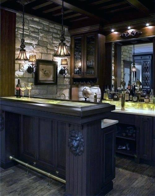 low basement  bar ideas