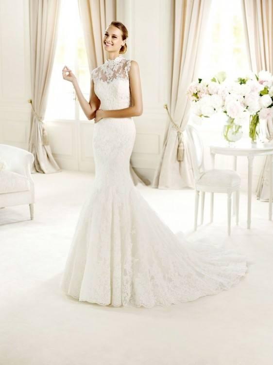 Lipsy High Neck Fishtail Bridal Maxi Dress