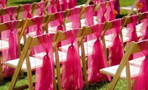 53 Cool Wedding Chair Decor Ideas With Fabric And Ribbon   HappyWedd