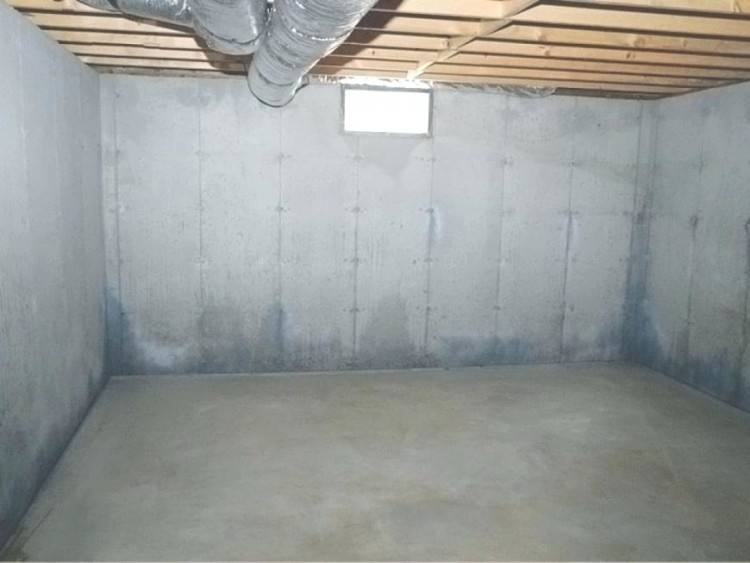 painting concrete basement wall walls ideas full how much paint