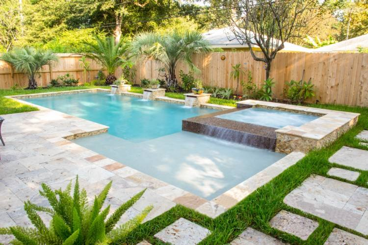 zero entry pool design tropical pool beach entry swimming pool landscaping  network ca although