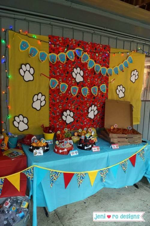 paw patrol table decorations design styling style in the details paw patrol birthday party table ideas