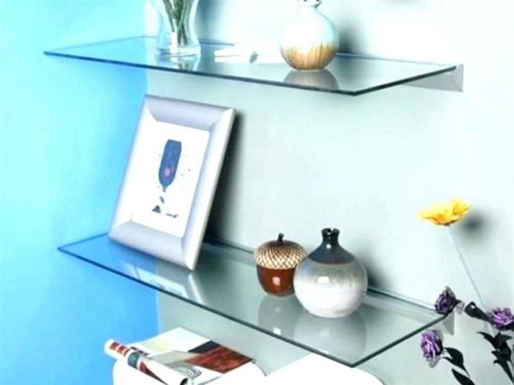 small glass shelf for bathroom