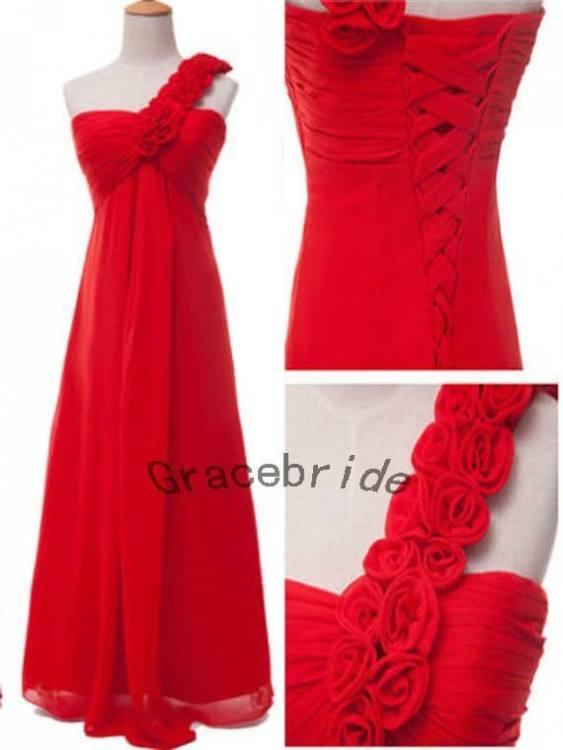 Rose Red Prom Dress Wedding Dress Corsage Beading Dresses Evening Dress Party Dresses Tassels U Neck Floor Length Bridesmaid Dress Pale Green Bridesmaid