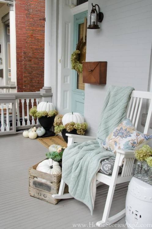 Use our outside fall decorating ideas and give your guests a warm welcome! But keep in mind that you don't want to go overboard with fall decorations for
