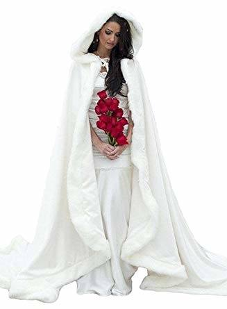 2019 2017 HOT Winter Wedding Dress Hooded Cloak Cape Faux Fur Bridal  Mantles Wraps Bridal From Guoguo888, $44