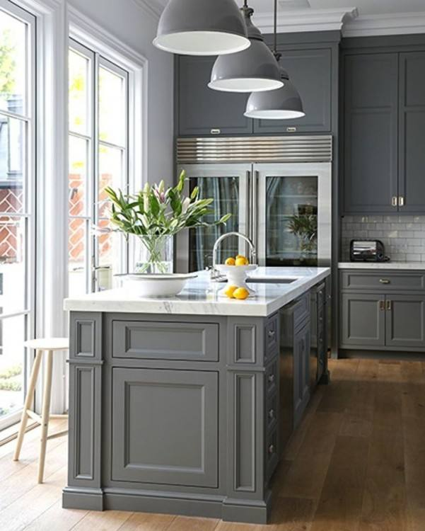 grey painted kitchen cabinets uk painting old color ideas