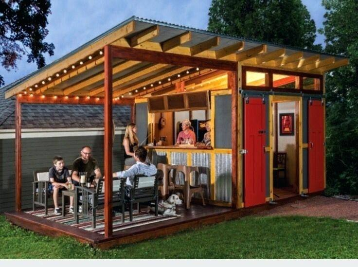 pool shed with bar house ideas turned next to a pole barn roof side poolside