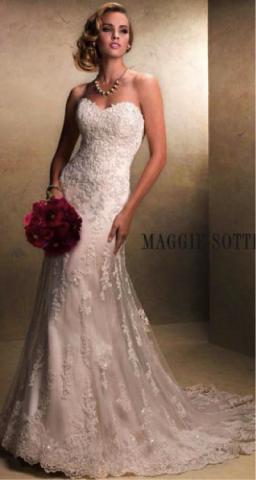 strapless sweetheart lace princess a line wedding dress sash