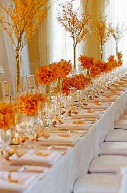 18 Incredible Ideas For Fall Wedding Decorations There are so many  wonderful autumn colors and fall elements such as pumpkin flowers  cranberries that you