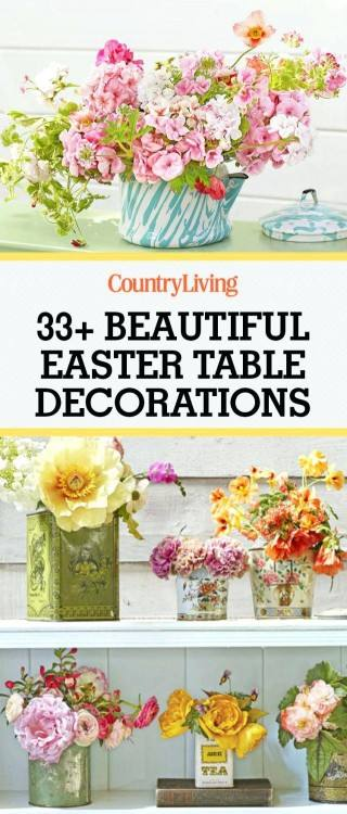 Church Easter Table Decorations in Easter Table · •