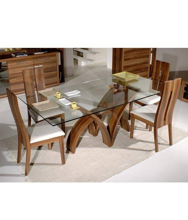 Full Size of Modern Wooden Dining Table With Glass Top Designs Extendable  Rectangular For Exotic Wood