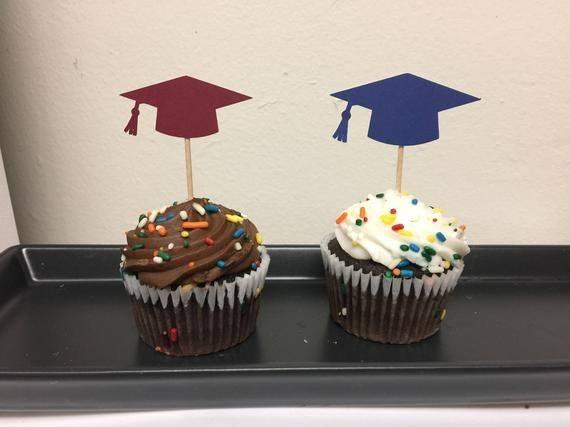 Graduation Cupcake Wrappers(24pack),Konsat CONGRATS GRAD CLASS OF 2018 Cupcake Decoration Graduation Topper Picks Partner Black Decor for Grad Party