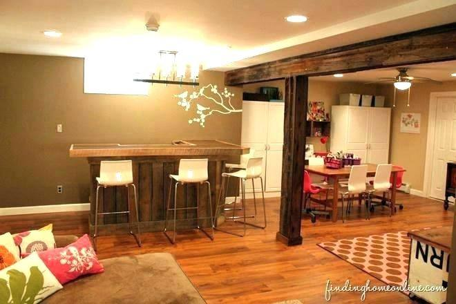 Use natural building materials, such as wood and stone, for your basement remodel