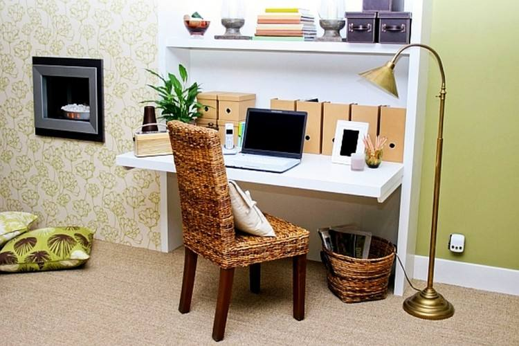 Small and narrow home office & study design with Scandinavian style [ Design: Buck Projects