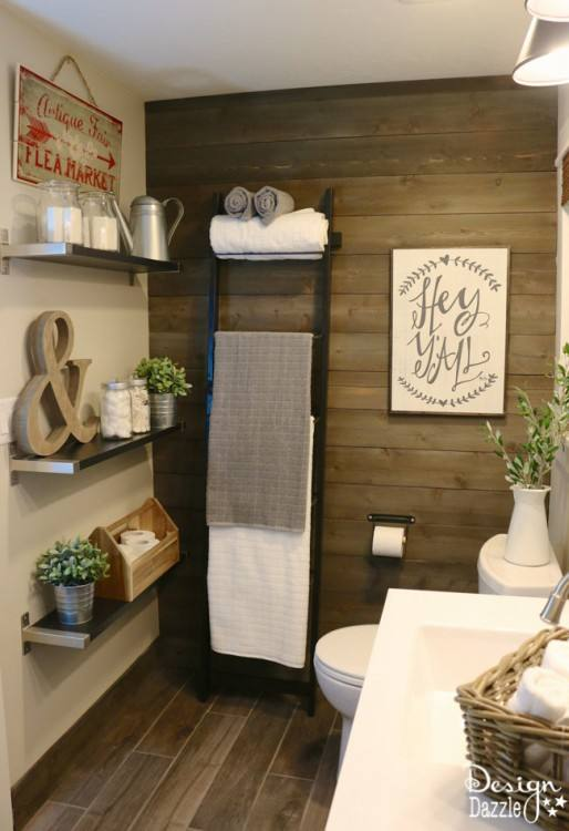 Farmhouse bathroom IKEA style! Gorgeous ideas for DIY decor remodel and  organization