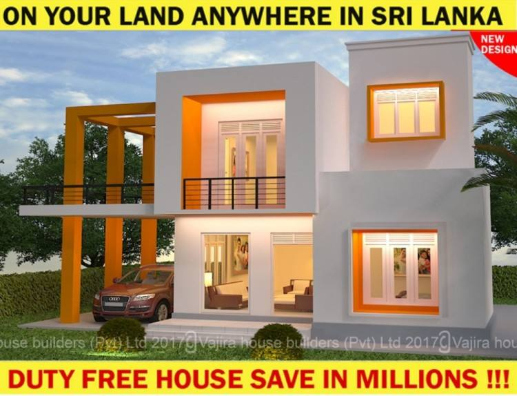 Three story modern house on 6 Perch land –Living / Dining / Pantry/ Kitchen/ 3 Bed rooms/ Master bed room with attached toilet / 3 Toilets / TV lobby/