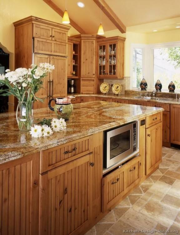 country kitchen ideas with oak cabinets