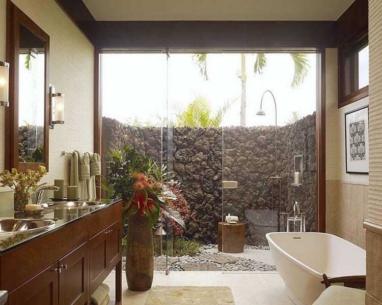 Epay Wood with Contemporary Deck Also Bamboo Bathroom Door Exterior Door Glass Shower Door Indoor Outdoor Living Outside Bathroom Entrance Pebbles Shower