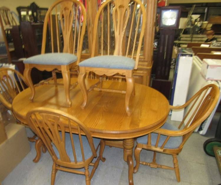 11; Antique Vintage Oak Dining Table And 6 Chairs Solid Oak Refectory  Table photo 1